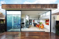 Looks can be deceiving from the from the facade. Malvern House by Patrick Jost