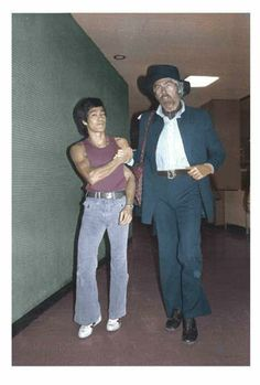 Bruce Lee and James Coburn