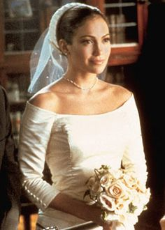 "Jennifer Lopez in ""The Wedding Planner"" Quickie City Hall Wedding Dress"