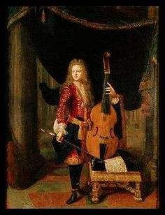 This:  seven string viol, Constantin Netscher (painter), Portrait of Viol Player, 1668-1723.  The Cipher for Viola da Gamba (and 6 course Lute) @TheCipher.com