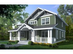 Carters Hill Craftsman Home Exquisite Craftsman Two-Story With Deep Covered Porch from houseplansandmore.com