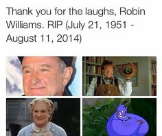 Rest in peace, Robin Williams ♡