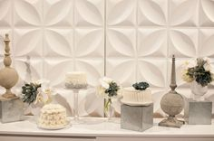 Modern Wedding Inspiration from Carondelet House {desserts by Cupcakes Couture}