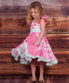 53e42e8035a0 Jelly the Pug Pink Pugs   Kisses Flo Dress - Girls
