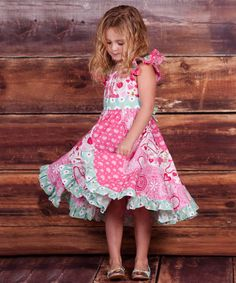 Look what I found on #zulily! Pink Pugs & Kisses Flo Dress - Infant, Toddler & Girls #zulilyfinds