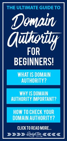What is domain authority? How do you check what your DA score is? Check out this complete website domain authority guide for beginners! Business Website, Online Business, Business Help, Content Marketing Strategy, Marketing Tools, Online Blog, Seo Tips, Business Entrepreneur, Blogging For Beginners