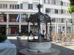 Muitas fontes em Zurique - Viagem com Sabor