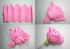 нам понадобится розовая и зеленая