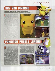N64 Gamer #30, August 2000 - Early previews of the Super weird Hey You! Pikachu! and the cool Pokemon Puzzle League.  Follow oldgamemags on ...