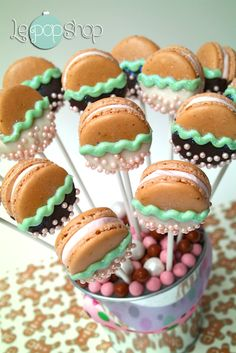 """""""Gingeman Macarons""""  they taste just like gingerbread but macarons...check us out on fb https://www.facebook.com/LePopShop"""
