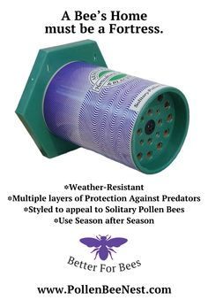 Find out more about our Bee Nests here... http://www.pollenbeenest.com/PollenBeeNest_AboutOurNests.html