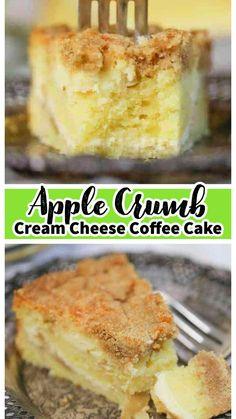 Apple Recipes, Fall Recipes, Baking Recipes, Easy Desserts, Delicious Desserts, Apple Desserts, Breakfast Dessert, Breakfast Dishes, Cream Cheese Coffee Cake