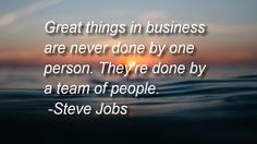 Great things in business are never done by one person. They're done by a team of people. - Steve Jobs    Let me help you succeed!  https://membershipcommand.com/sales/apc/gq4j5kj/silverfree.html http://tracklix.com/a581