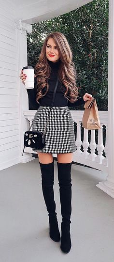 dresses in winter outfit / dresses in winter . dresses in winter how to wear . dresses in winter cold weather . dresses in winter outfit . dresses in winter work . dresses in winter with boots . dresses in winter party . dresses in winter formal Mode Outfits, Stylish Outfits, Fashion Outfits, Womens Fashion, Stylish Clothes, Dress Fashion, Fashion Boots, Fall Fashion Skirts, Fashion Ideas