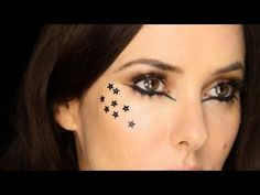 Lisa Eldridge - Black Stars & Liner Dramatic/Editorial Look.  For more tips and a list of products visit http://www.lisaeldridge.com/video/13284/editorialdramatic-liner-lashes-and-stars/ #MakeUp #Beauty #Tutorial
