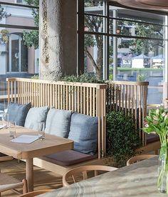 Modern Restaurant, Modern Cafe, House Restaurant, Restaurant Design, Design Café, Design Blogs, Cafe Design, Wood Cafe, Cafe Furniture
