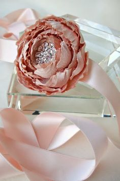 gorgeous handmade flower and brooch sash/belt from Emici Bridal via @Portobello Bride