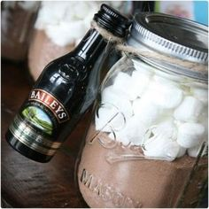 Hot Chocolate in a Jar and Baileys