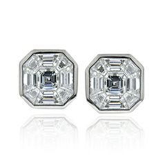 5b369dce4 Diamond Earrings | Stud Earrings | Brilliant Cut Diamond Studs | Rub Over  Setting