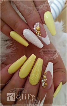 Summer nails Yellow nails