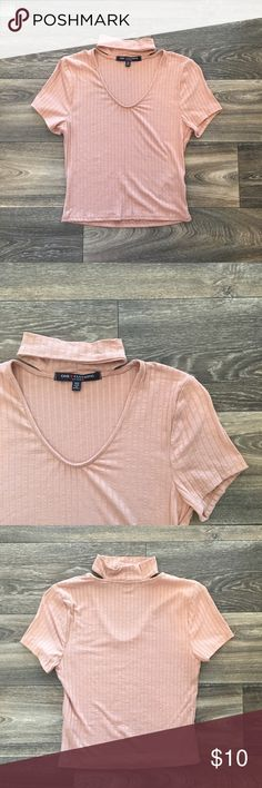 Blushed Choker Top Slightly cropped, nwot one clothing Tops Crop Tops