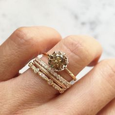 Stackable rings for the unconventional bride | Trabert Goldsmiths/Instagram