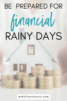 Tips and tricks for saving money for a rainy day fund. Save for a financial rainy day with these printable rainy day fund saving charts. Rainy Day Fund, Rainy Days, Financial Apps, Savings Chart, No Spend Challenge, Debt Tracker, Free Charts, Cash Envelope System, Budget Binder