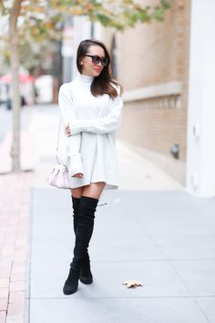 It's official: the chicest and arguably sexiest boots this fall are these gorgeous over-the-knee bootsby Stuart Weitzman. Arthur Beren Shoes teamed up with blogger Alina Dinh to show you these gorgeous boots--and how to wear them.
