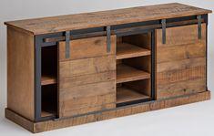 Barn Door Console - Honey Pine