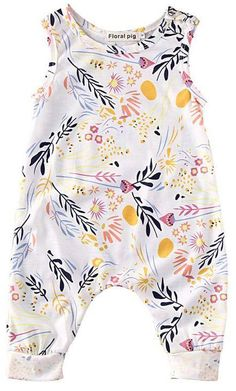 SALE 40% OFF + FREE SHIPPING! SHOP Our Floral Sleeveless Jumpsuit for Baby & Toddler Girls