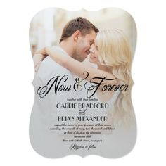 Formal Wedding Invitations Now and Forever Photo Wedding Invitations Formal Wedding Invitations, Destination Wedding Invitations, Beautiful Wedding Invitations, Elegant Wedding Invitations, Wedding Programs, Wedding Venues, Wedding Destinations, Wedding Stationary, Wedding Vows