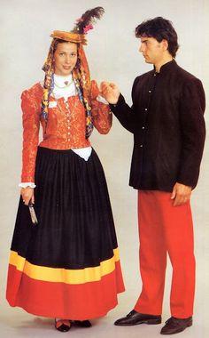 Croatia- Gradska Nošnja, Town Costume of Orebić