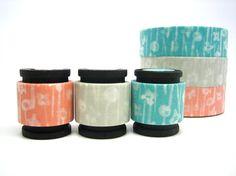 "Mini Rolls of Washi Tape via Etsy seller ""chickydoddle"""
