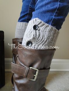 Boot Cuff - looks like a boot sock! Or wear as a Boot Sleeve...