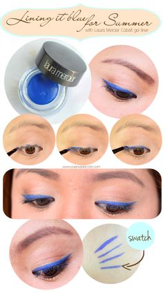 Shens Beauty Blog: Makeup, Skincare, Tutorials, Reviews and Features: Lining It Blue For Summer | Laura Mercier Cobalt Creme Eye Liner
