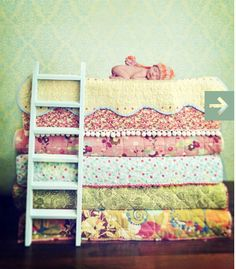 great use of quilts