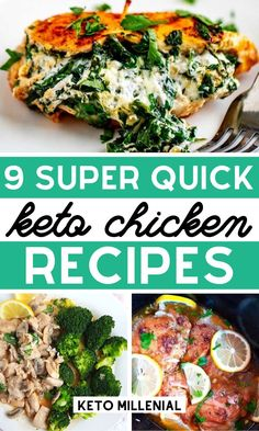 Sep 2019 - Quick keto chicken dinners that are easy to make and crazy-delicious! Try some easy ketogenic chicken recipes that are filling, satisfying and will help you stick to the keto diet even on the busiest of weeknights! Low Carb Crockpot Chicken, Stew Chicken Recipe, Keto Chicken, Chicken Meals, Chicken Recipes, Lunch Recipes, Low Carb Recipes, Dinner Recipes, Healthy Recipes