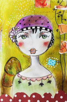 Illustrations, Illustration Art, Art Journal Pages, Art Journaling, Art Fantaisiste, Art Visage, Zentangle, Art Challenge, Art Journal Inspiration