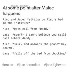 This has got to be one of my top 5 fave Malec posts!!