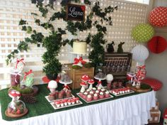 woodland party dessert table | Amy Atlas Events