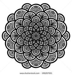 Mandala. Round Ornament Pattern by Snezh, via Shutterstock | A ...