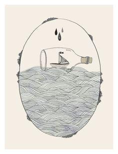 barco en una botella.