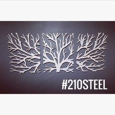 The symbol of the tree, traditionally represents physical and spiritual nourishment, transformation and liberation, sustenance, spiritual growth, union and fertility. An undeniable conversation piece, this unique and memorable 3-piece wall art makes a bold statement in your home or as a unique gift. Digitally designed by 210 Steel and plasma cut into 10 gauge mild steel, the metal is then hand polished, complete with a clear coat finish to protect against rust and aging. Each individual…