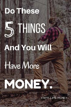 REAL, faith-based strategies for increasing savings. These 5 points will help financial growth and increase your savings.