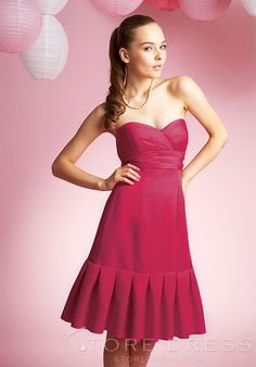 Fabulous Draped A-Line Knee-length Strapless Bridesmaid Dress at Storedress.com