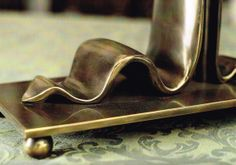"""Tie Lamp""  #sculpture #lamp #brass  Brass  http://nicolettialessandro.it"