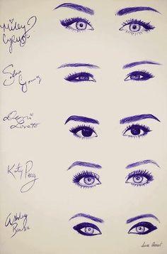 eye chart for eyeliner and eye type...