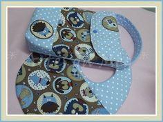 Confecionados com tecidos 100% algodão nacionais e importados, super fofos para levar na bolsa do bebe.