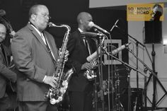 """Musician Jeff Anderson leading his band """"Sax Attack"""" at Jazz At The Bistro in Grand Center (St. Louis, Missouri May 2014)"""