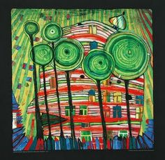 Friedensreich  Hundertwasser (1928 – 2000) was an Austrian architect and painter.